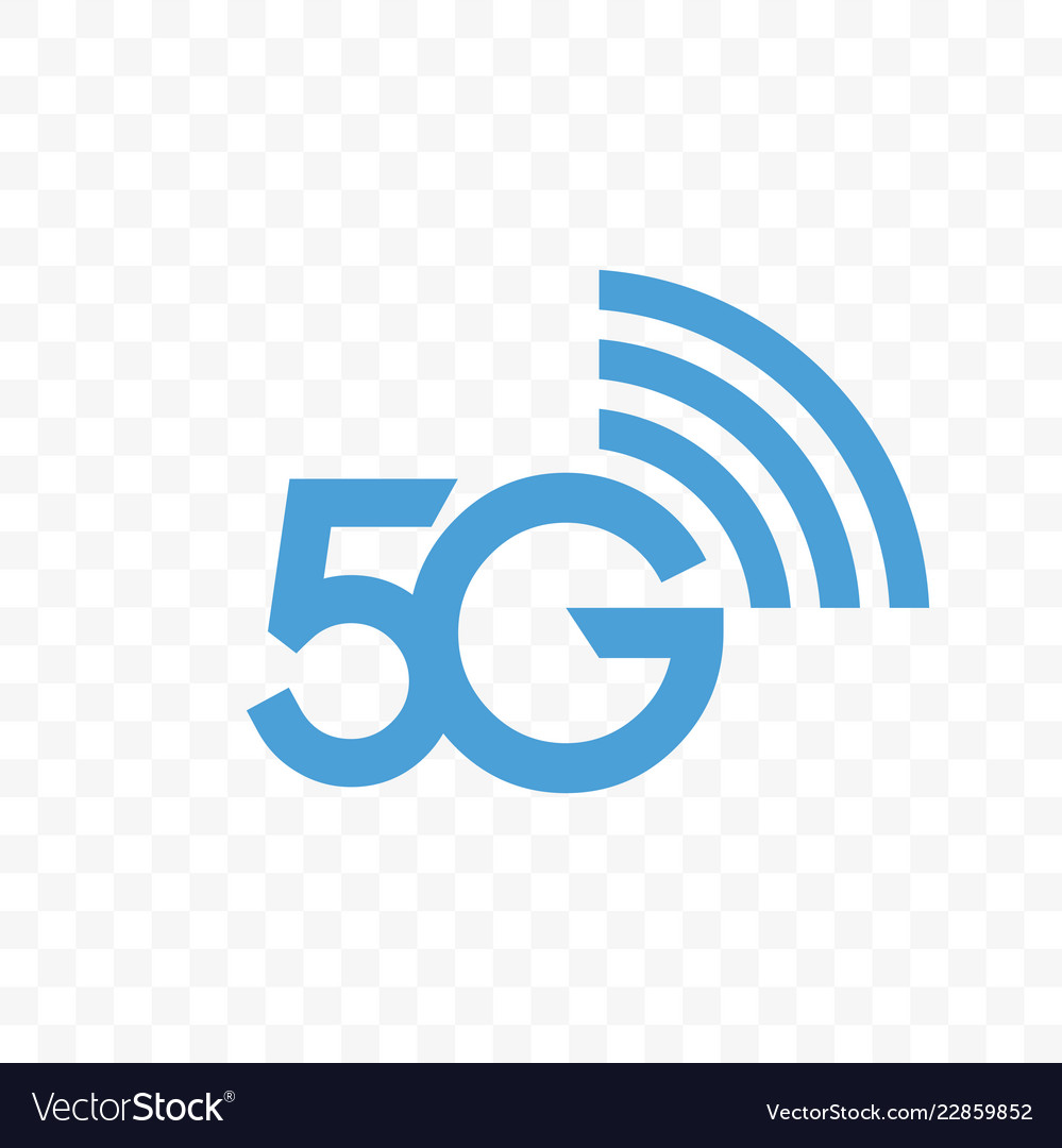 5g internet network logo icon vector