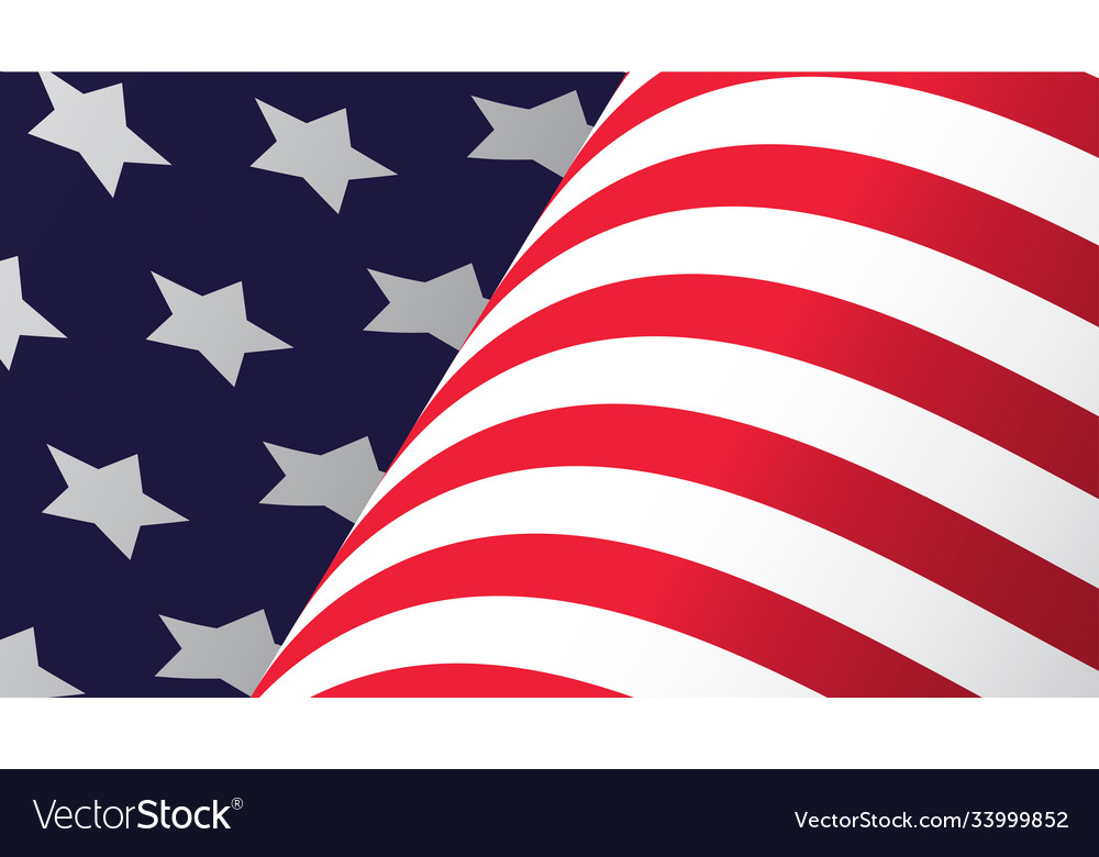 American flag waving in wind