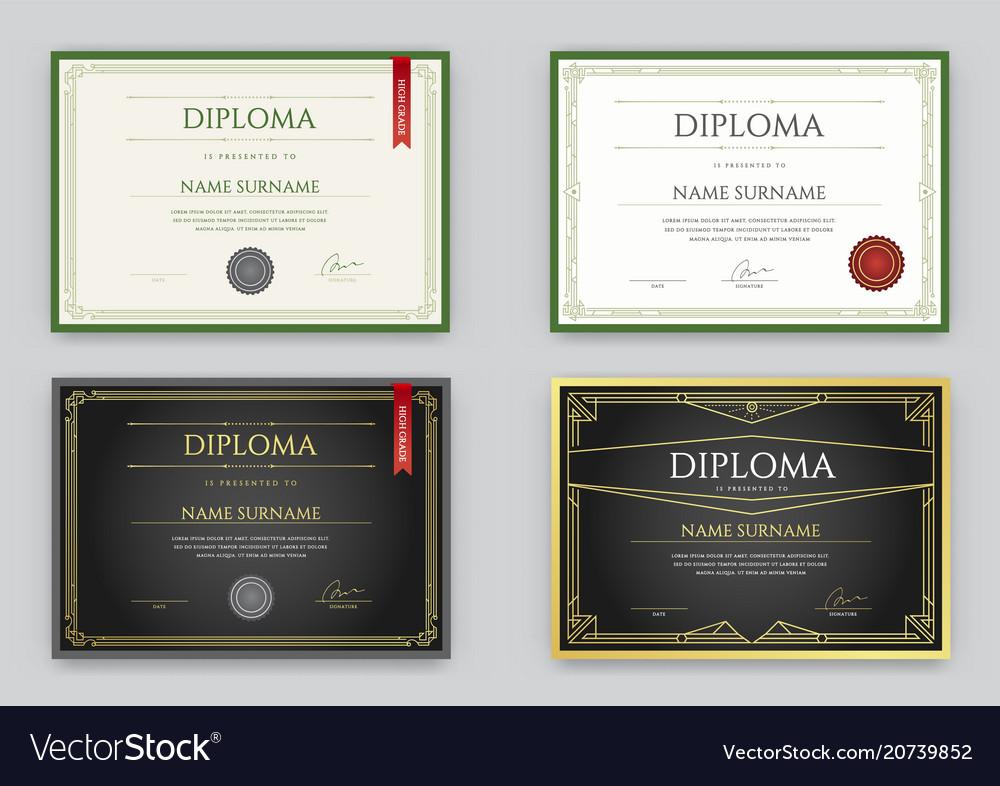 Big set of diploma or certificate premium design