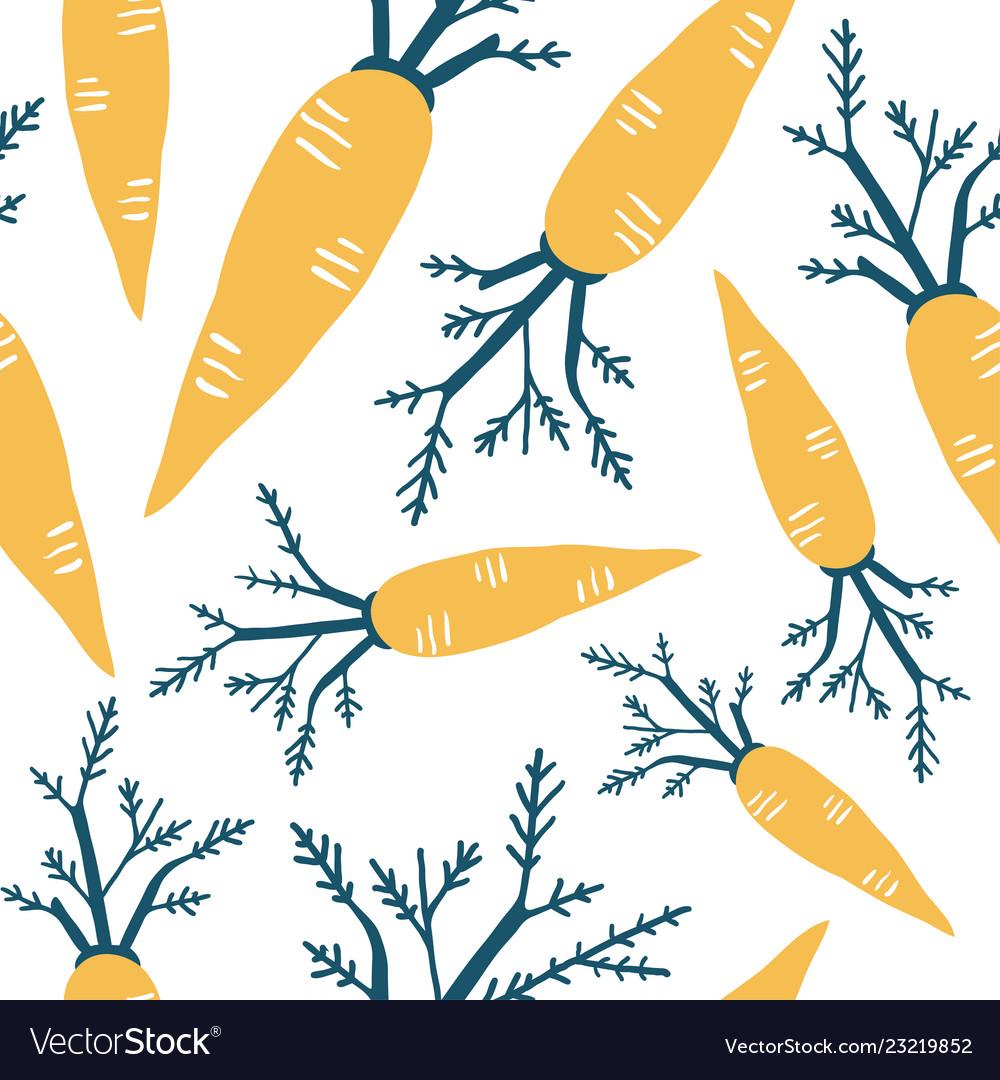 Carrot seamless pattern