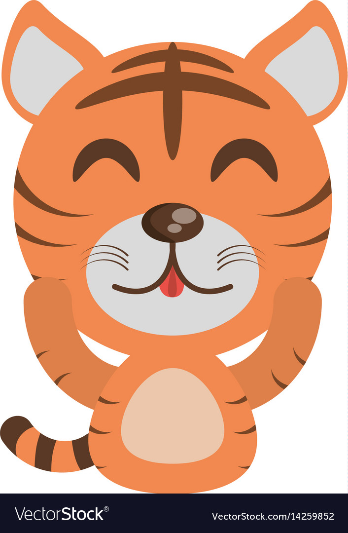 Cute tiger animal character funny