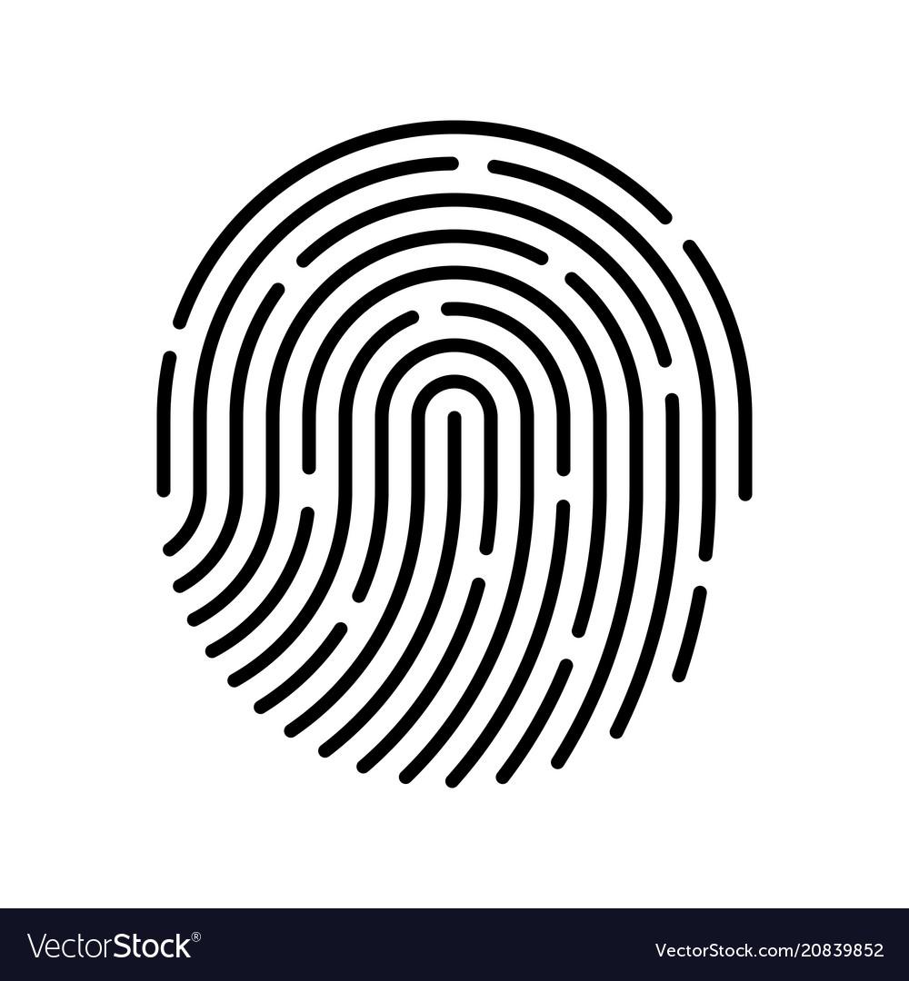 id app icon fingerprint royalty free vector image rh vectorstock com fingerprint vector free download fingerprint vector free download