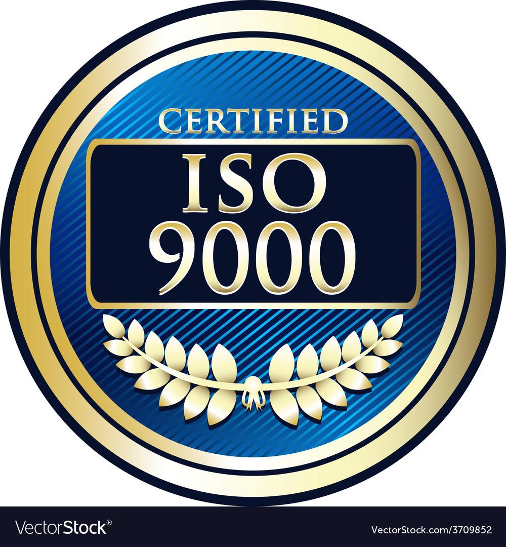 ISO 9000 Royalty Free Vector Image - VectorStock