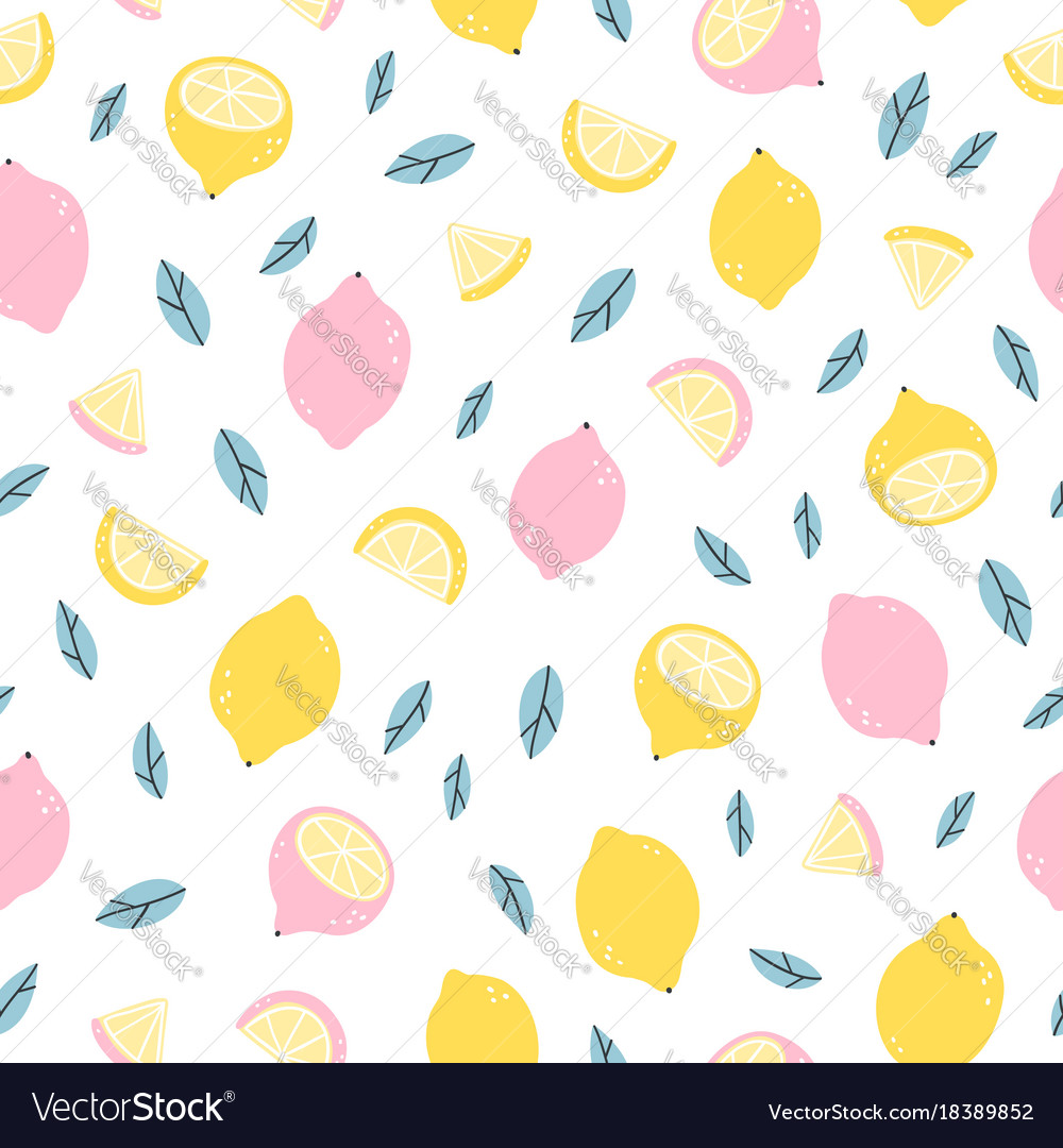 Lemons doodle pattern
