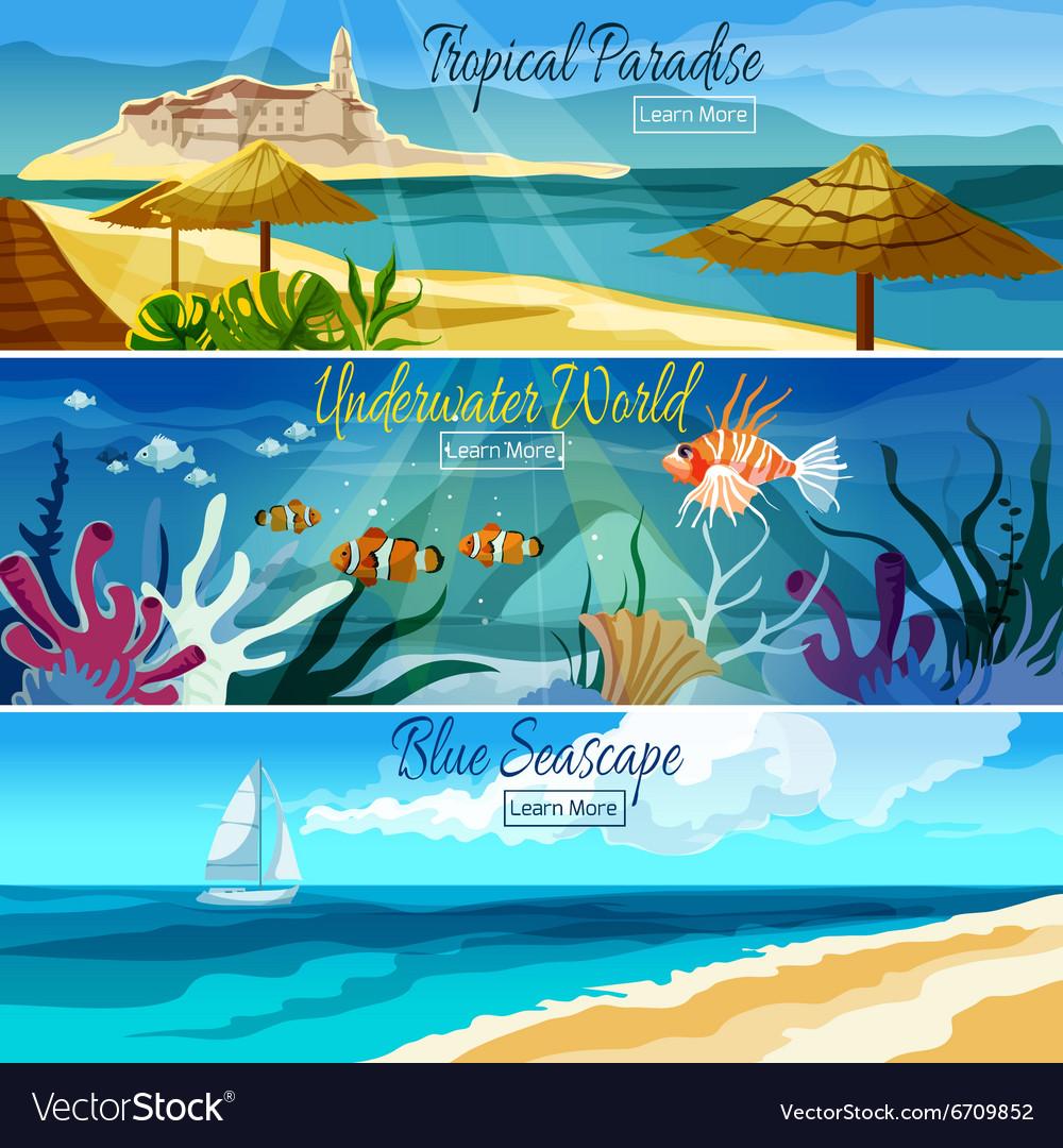Seascape banner set
