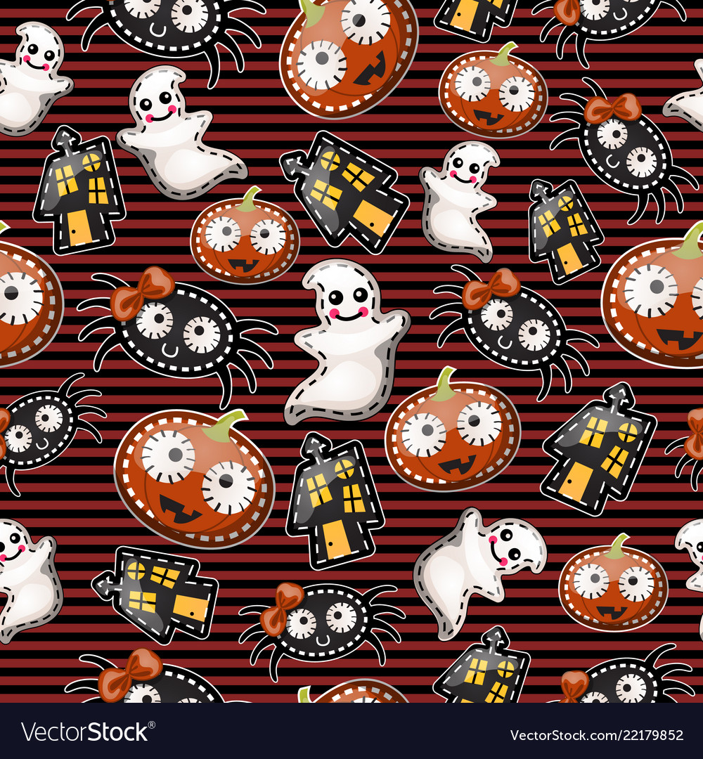Texture cute characters halloween holiday