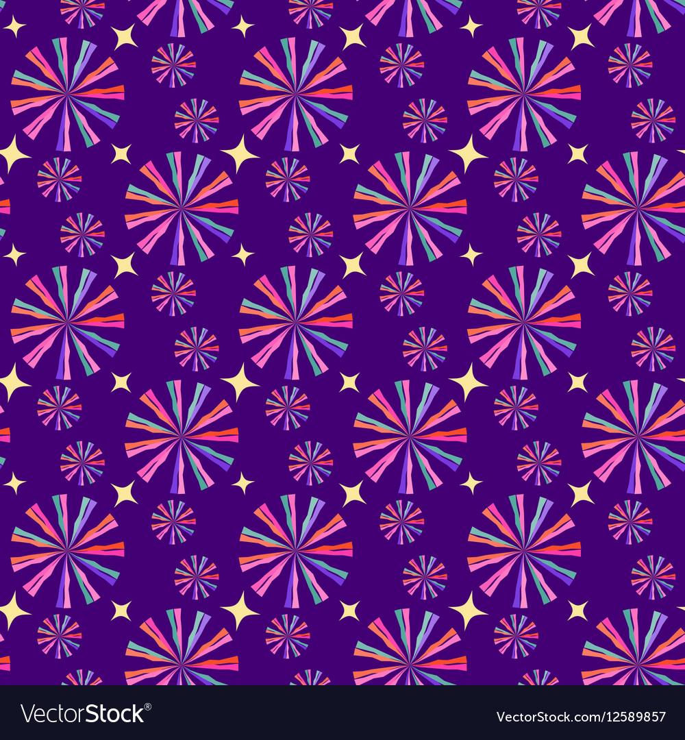 Abstract geometric seamless pattern circus