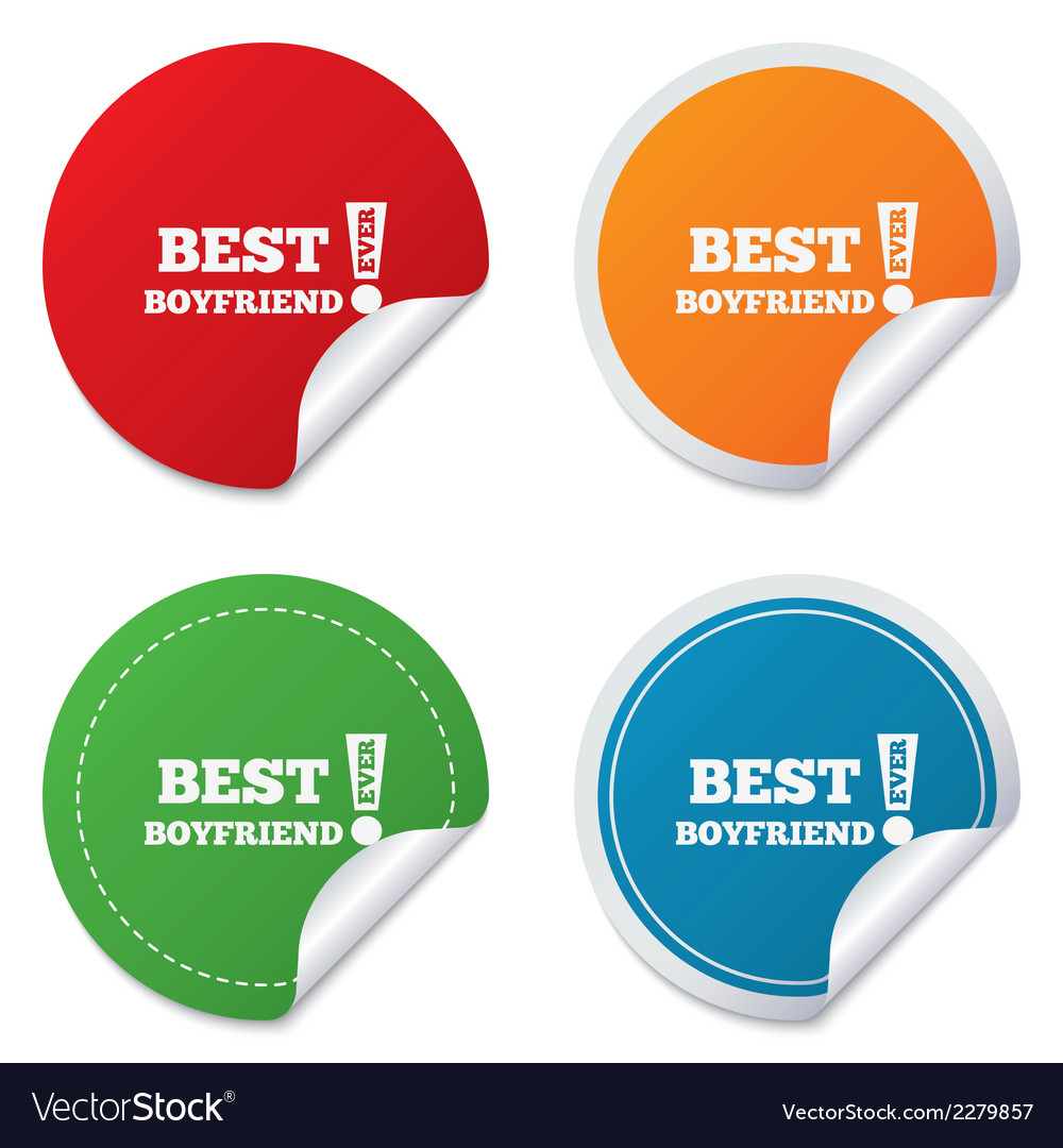 Best boyfriend ever sign icon award symbol vector art download sign