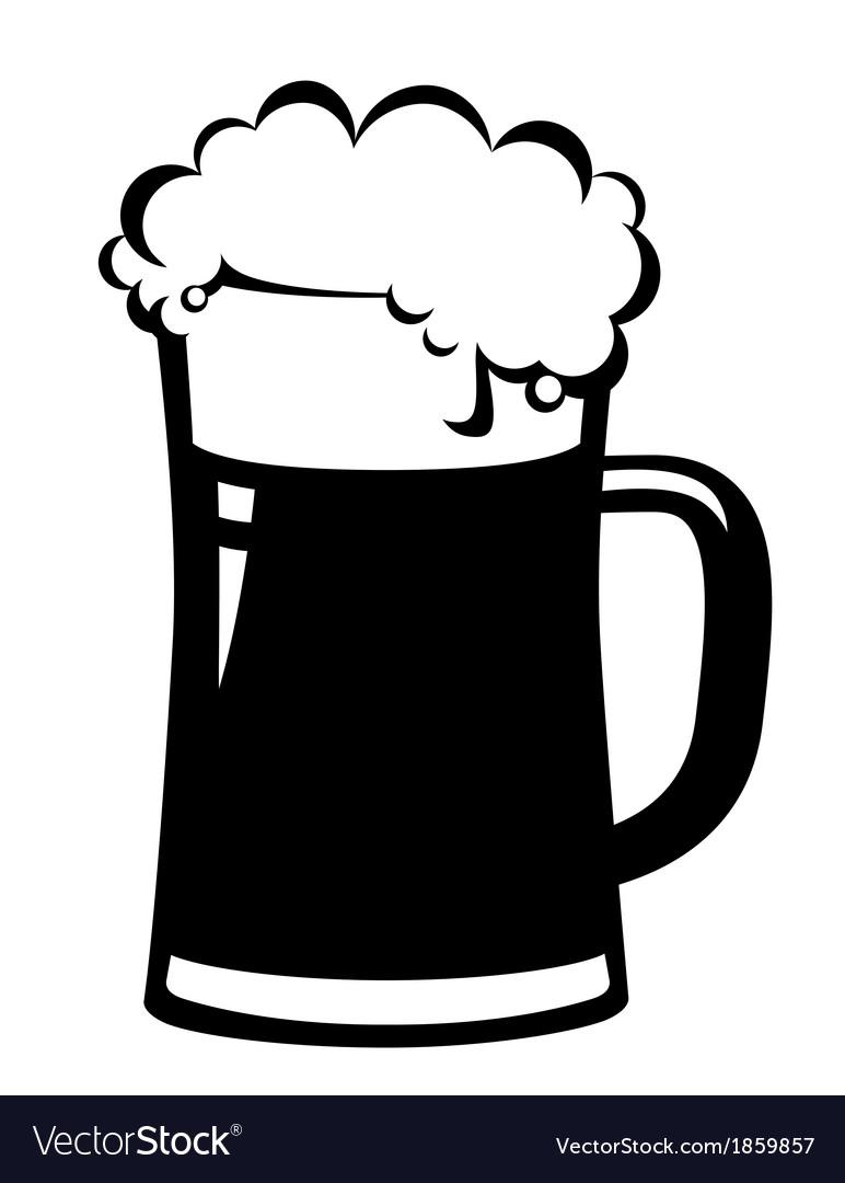 black beer mug royalty free vector image vectorstock rh vectorstock com beer vector download beer vector mechanics dynamics