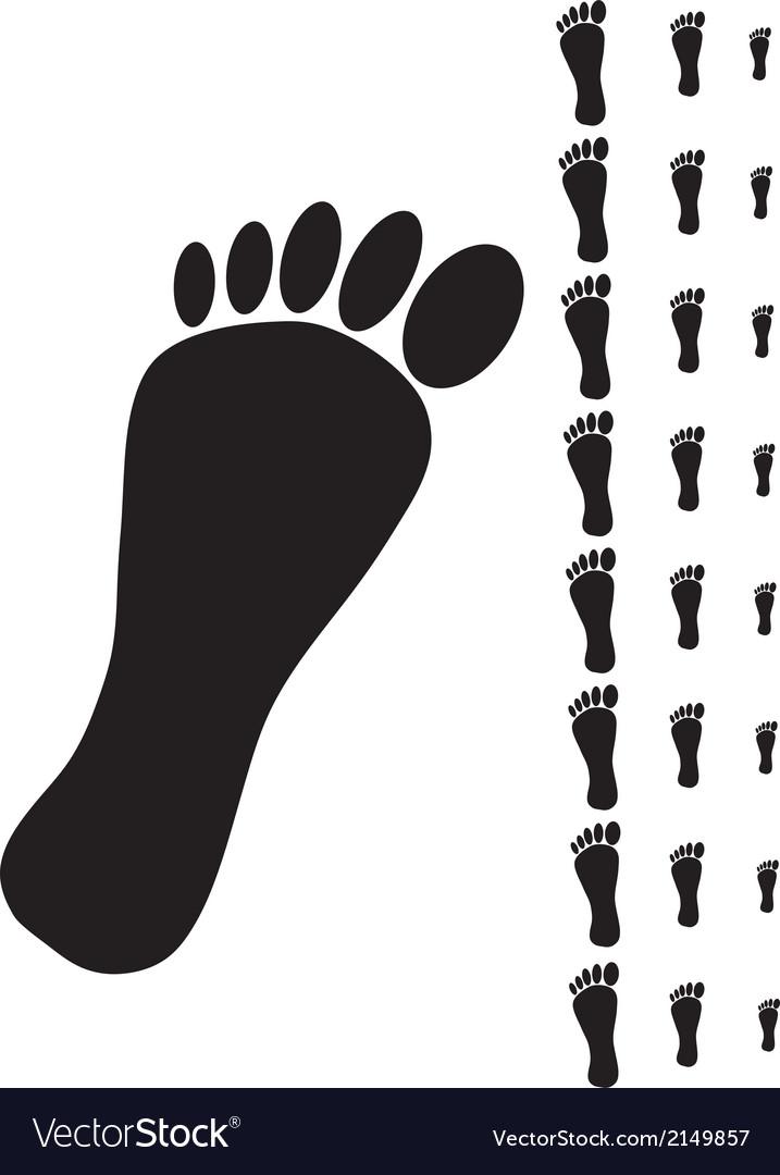 Black human footprint
