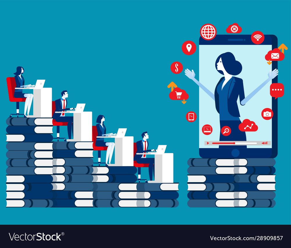 Business learning online concept business