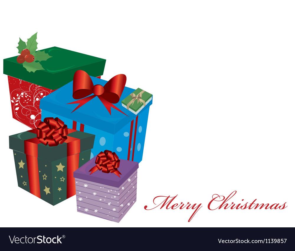 Christmas Presents Royalty Free Vector Image - VectorStock