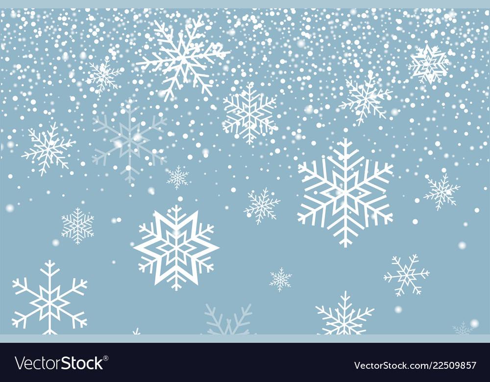 Snowflakes Cookies Snow Pattern Stencil Falling Snow Background Winter Random