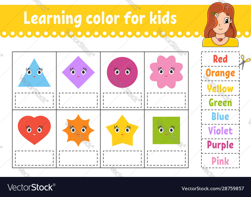Learning Color For Kids Education Developing Vector Image