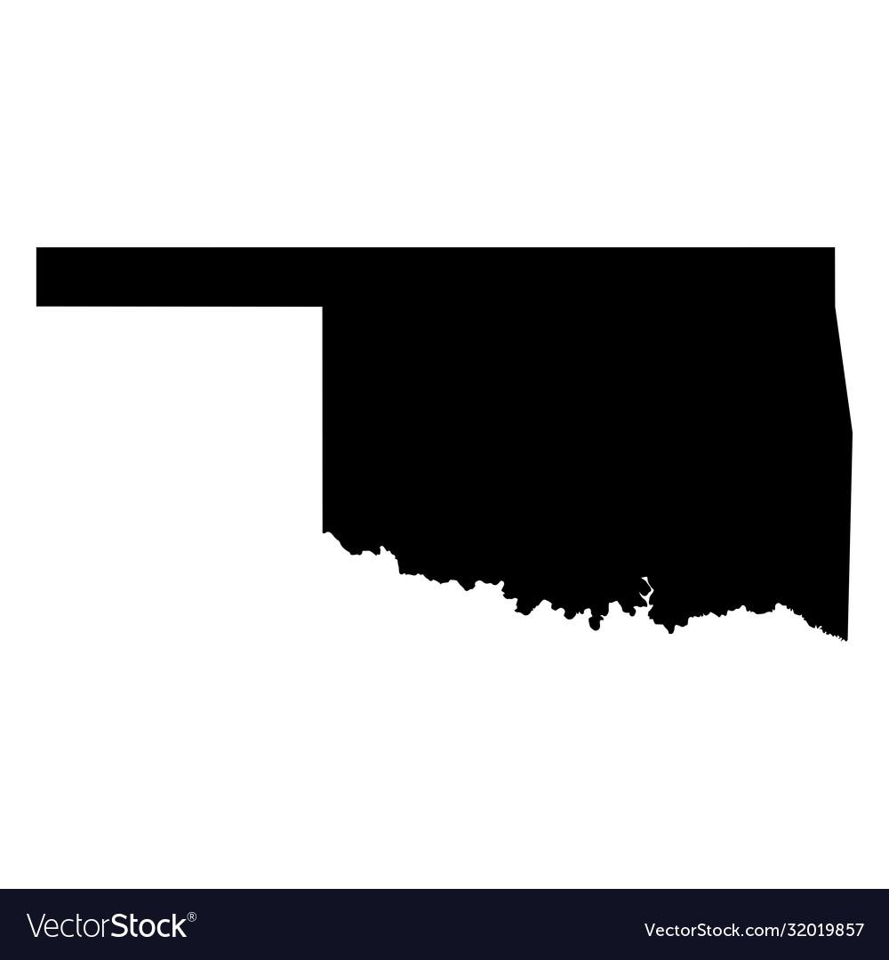 Oklahoma ok state border usa map solid