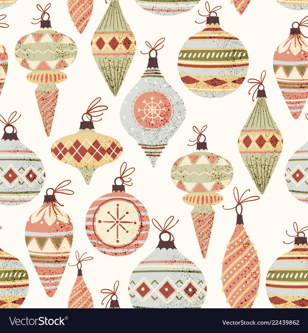 Christmas tree decoration pattern
