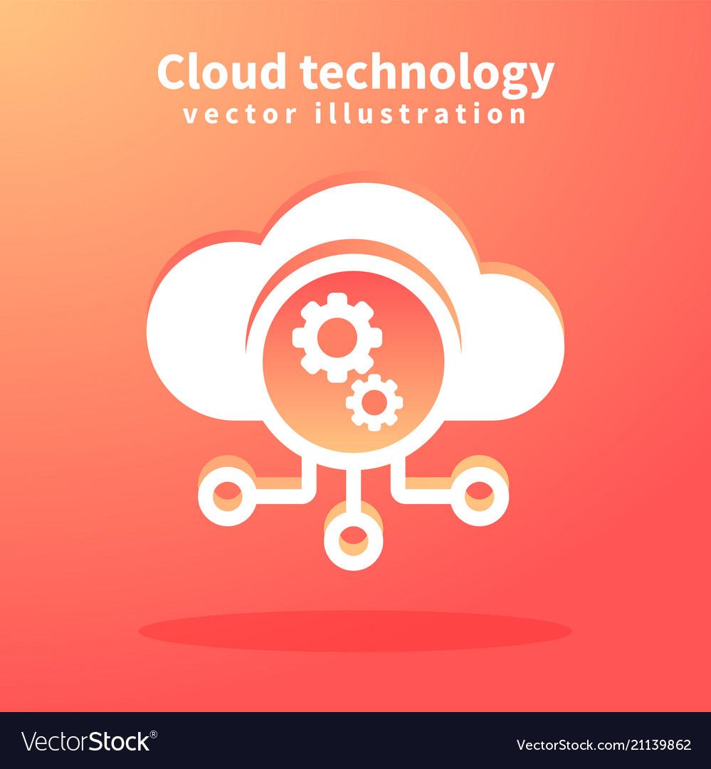 Cloud icon for web design