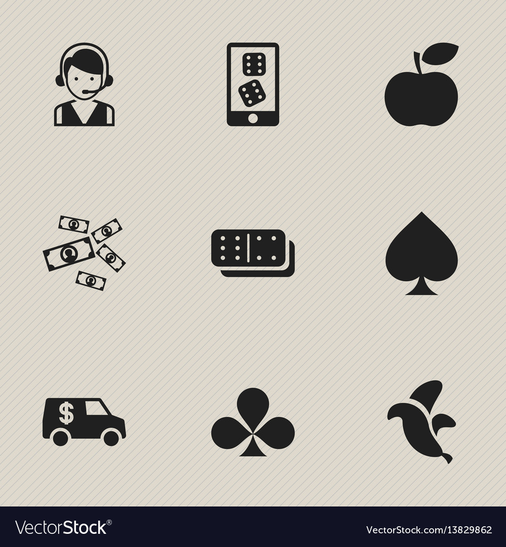 Set of 9 editable game icons includes symbols