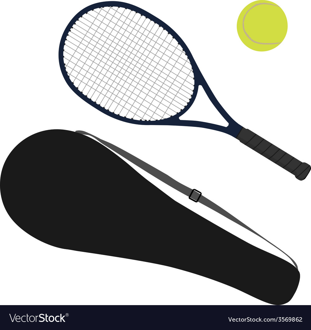 Tennis ball tennis racket racket cover