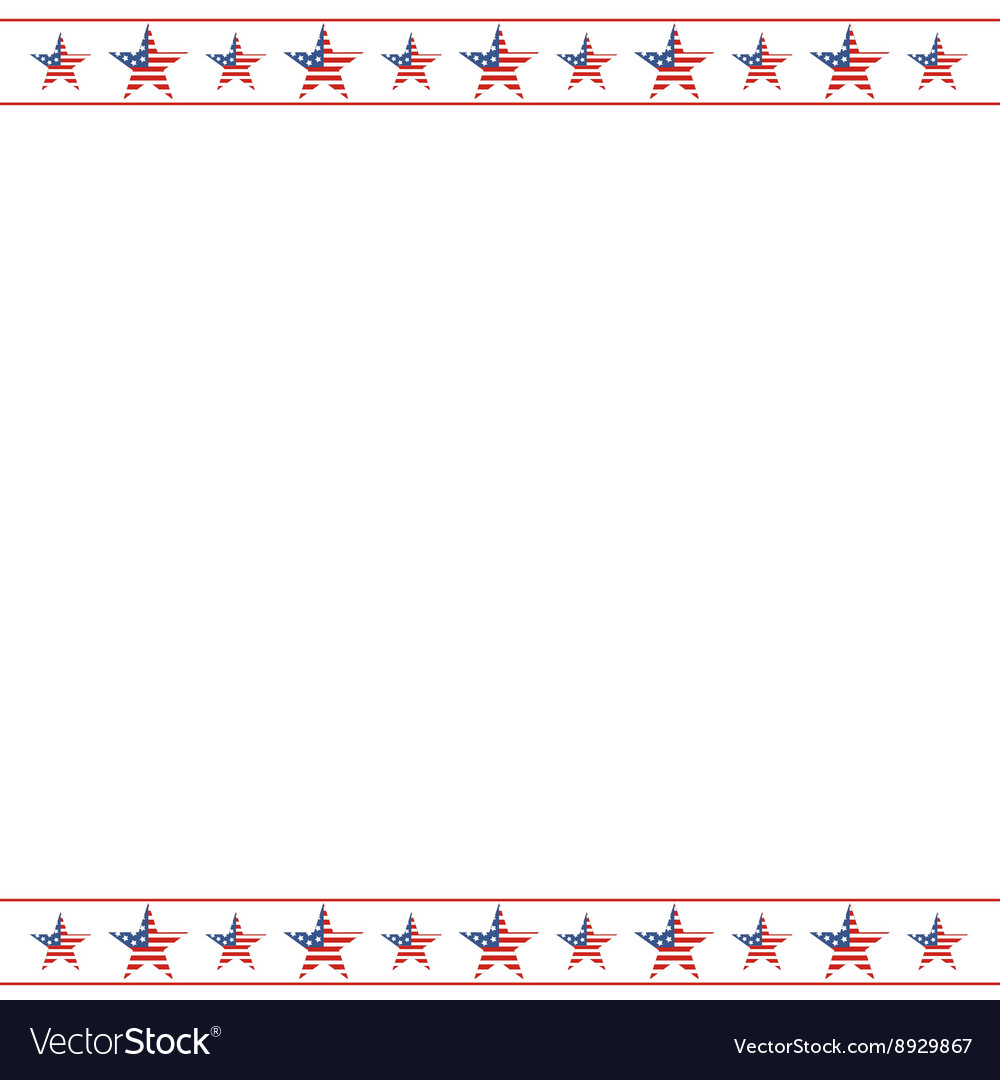 American patriotic frame with empty space on vector image