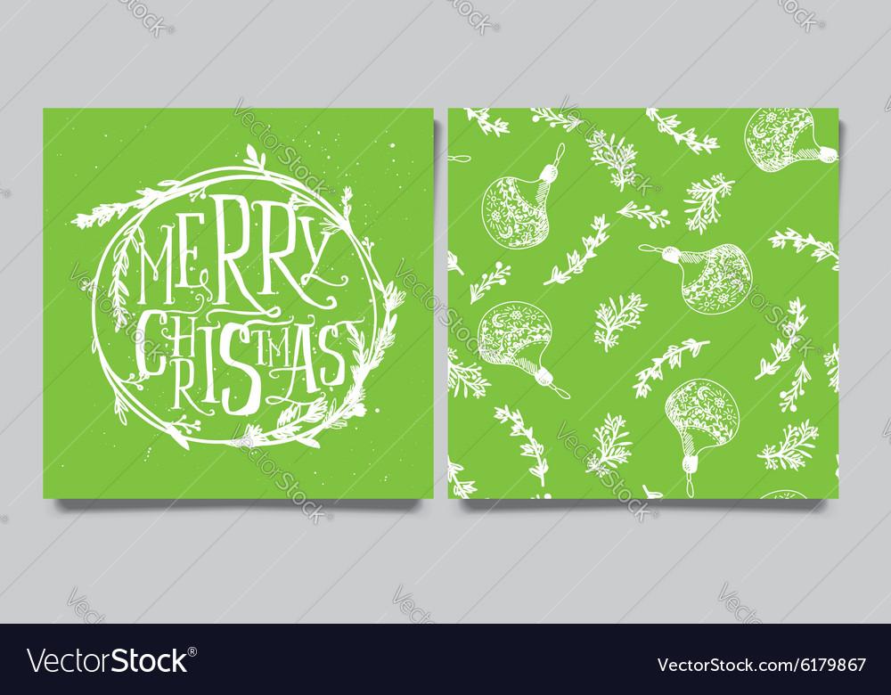 Christmas wreath Seamless pattern