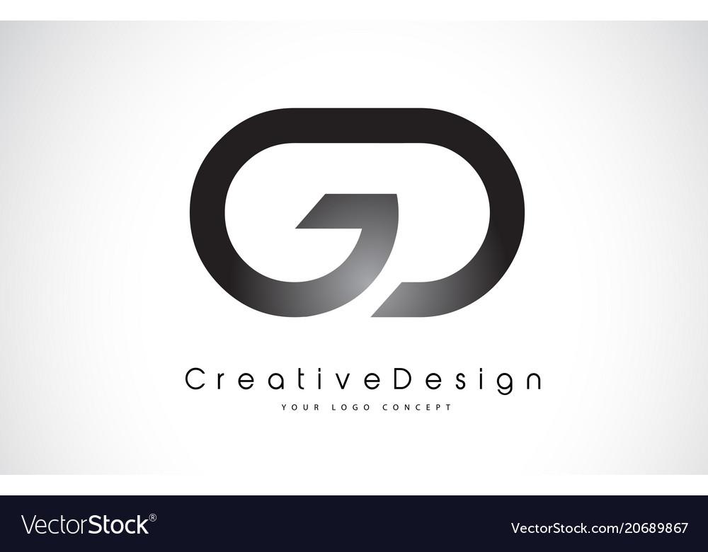 Gd g d letter logo design creative icon modern