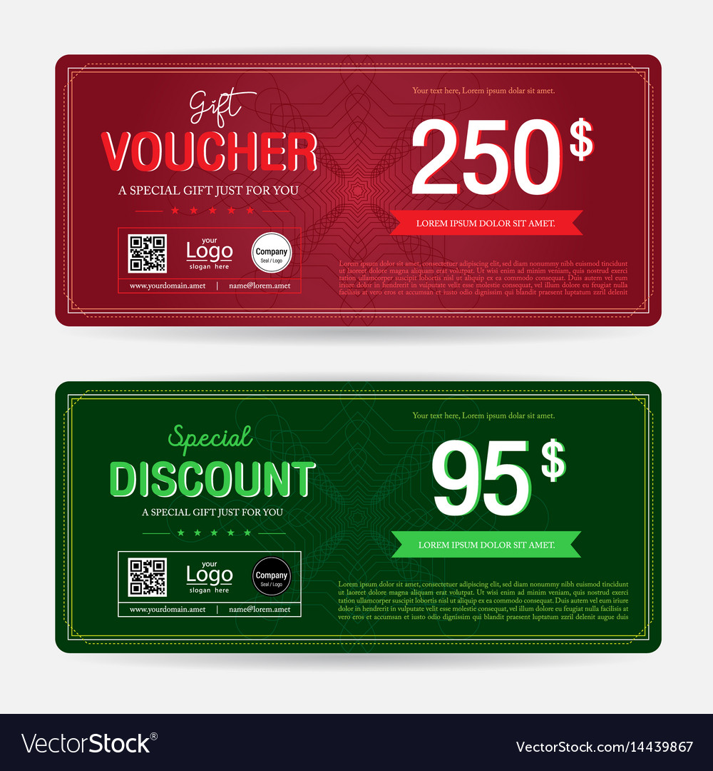 gift voucher or gift coupon template for award vector image