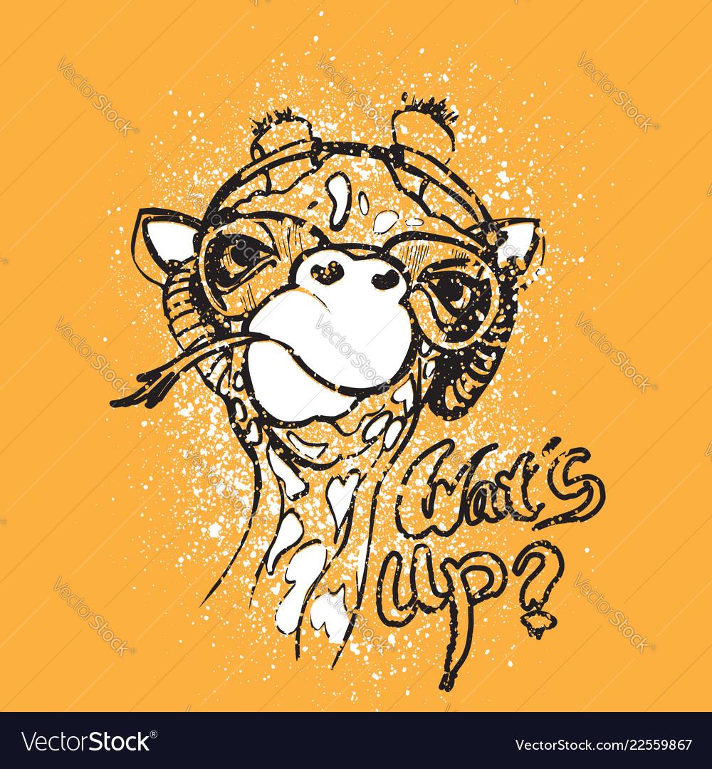 Giraffe for t-shirt portrait
