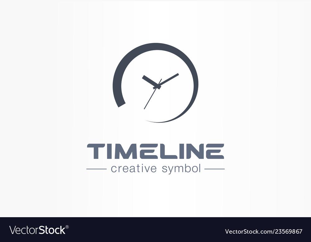 Timeline creative symbol concept time start