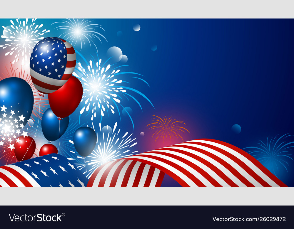 4th july usa independence day design