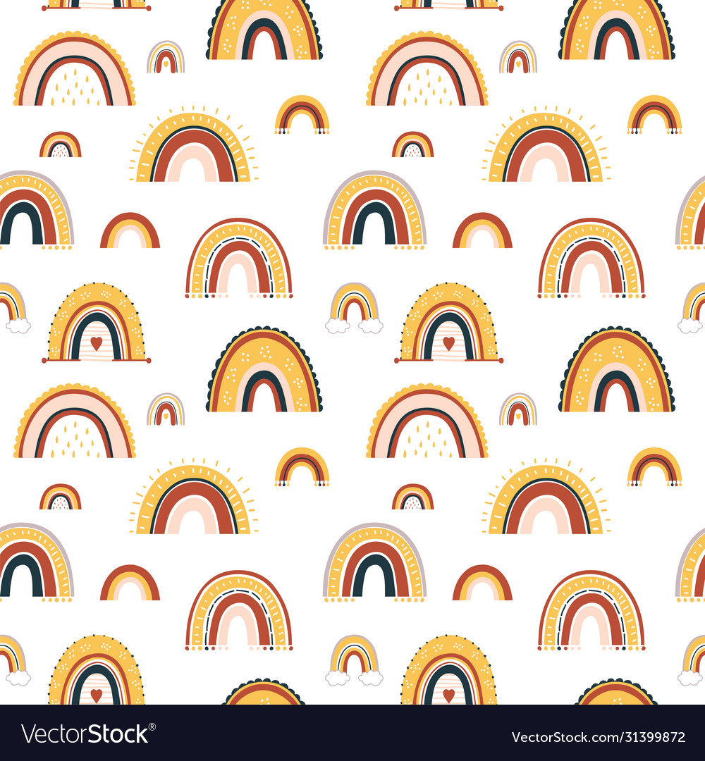 Barainbow seamless pattern