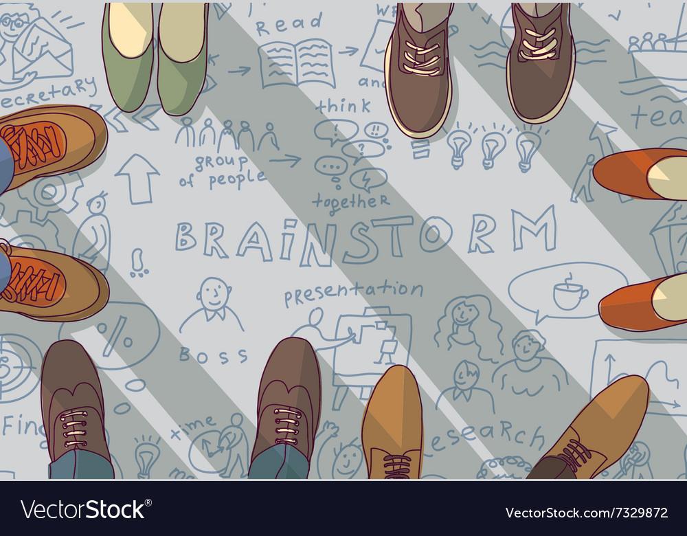 Creative Team Group People Ideas Brainstorm Vector Image