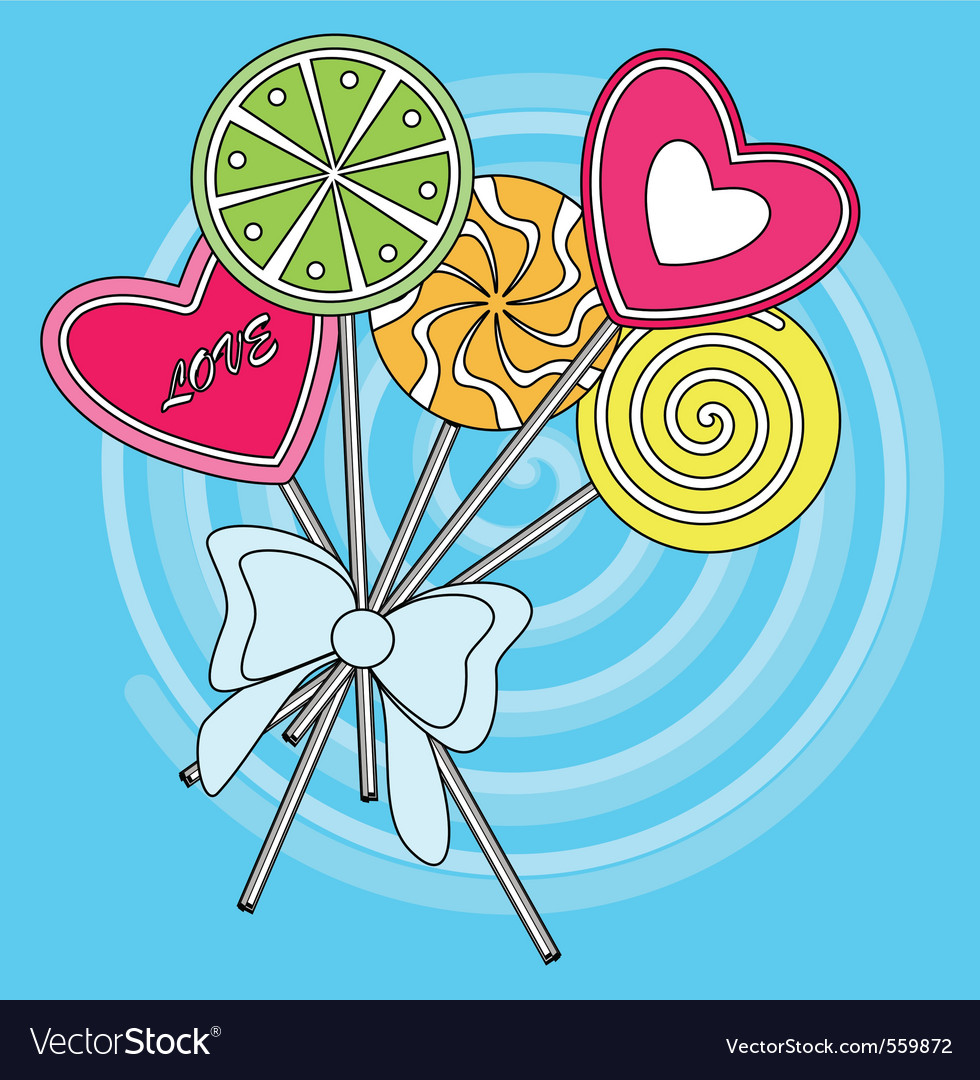 Lollipop Greeting Card Royalty Free Vector Image