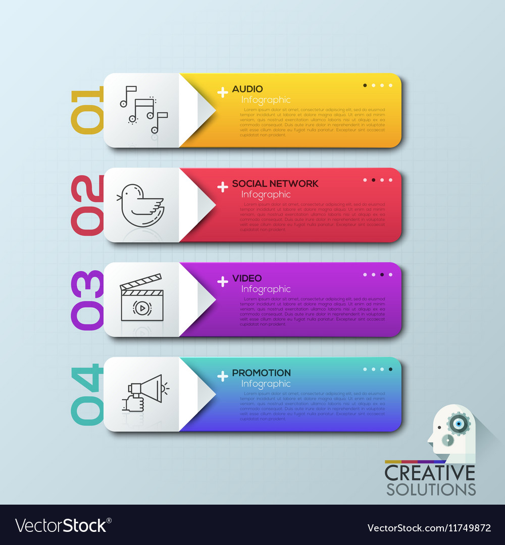 Modern arrow business step options banner vector image