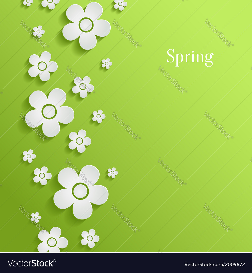 Spring Flowers Background Royalty Free Vector Image