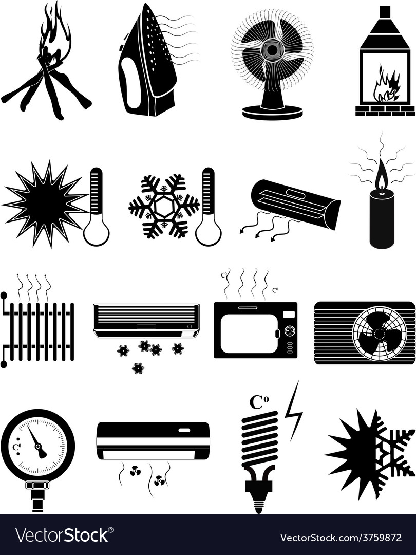 Ventilation icons set