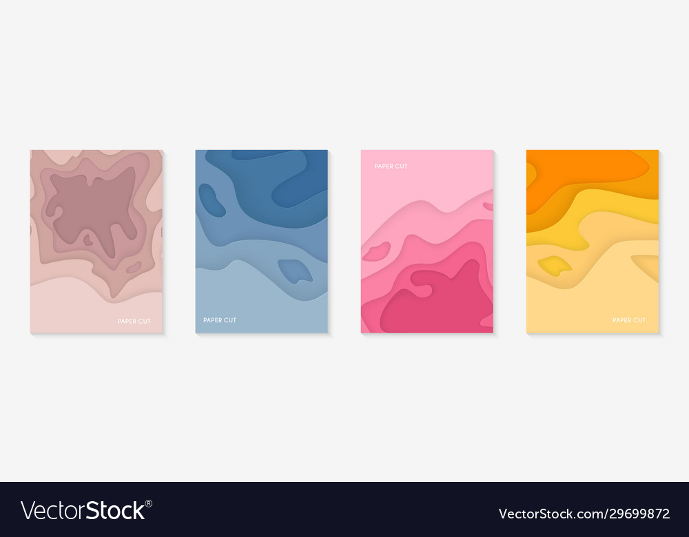 Vertical banners set with 3d abstract background