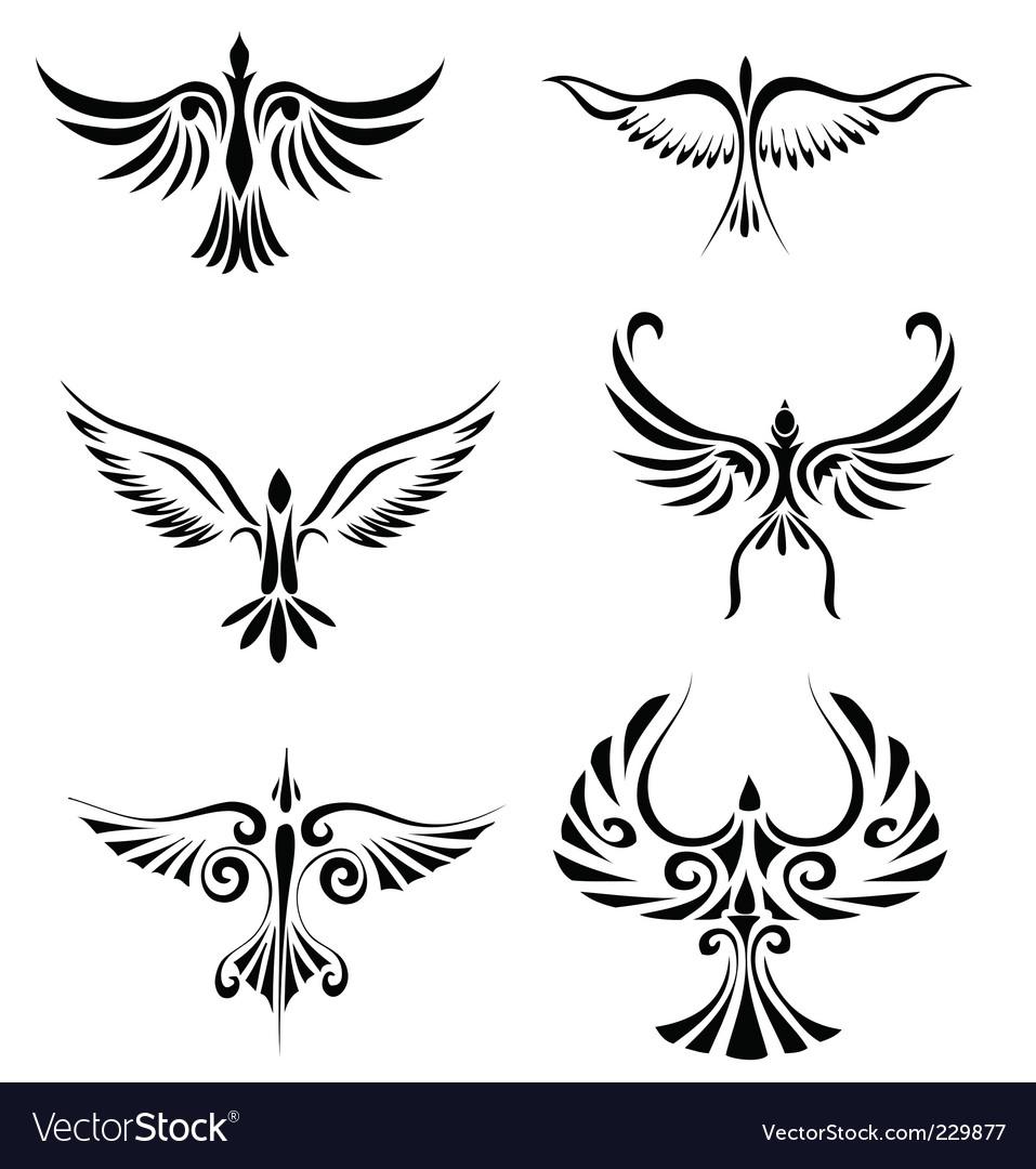 d1865f9b9 Bird tribal tattoo Royalty Free Vector Image - VectorStock