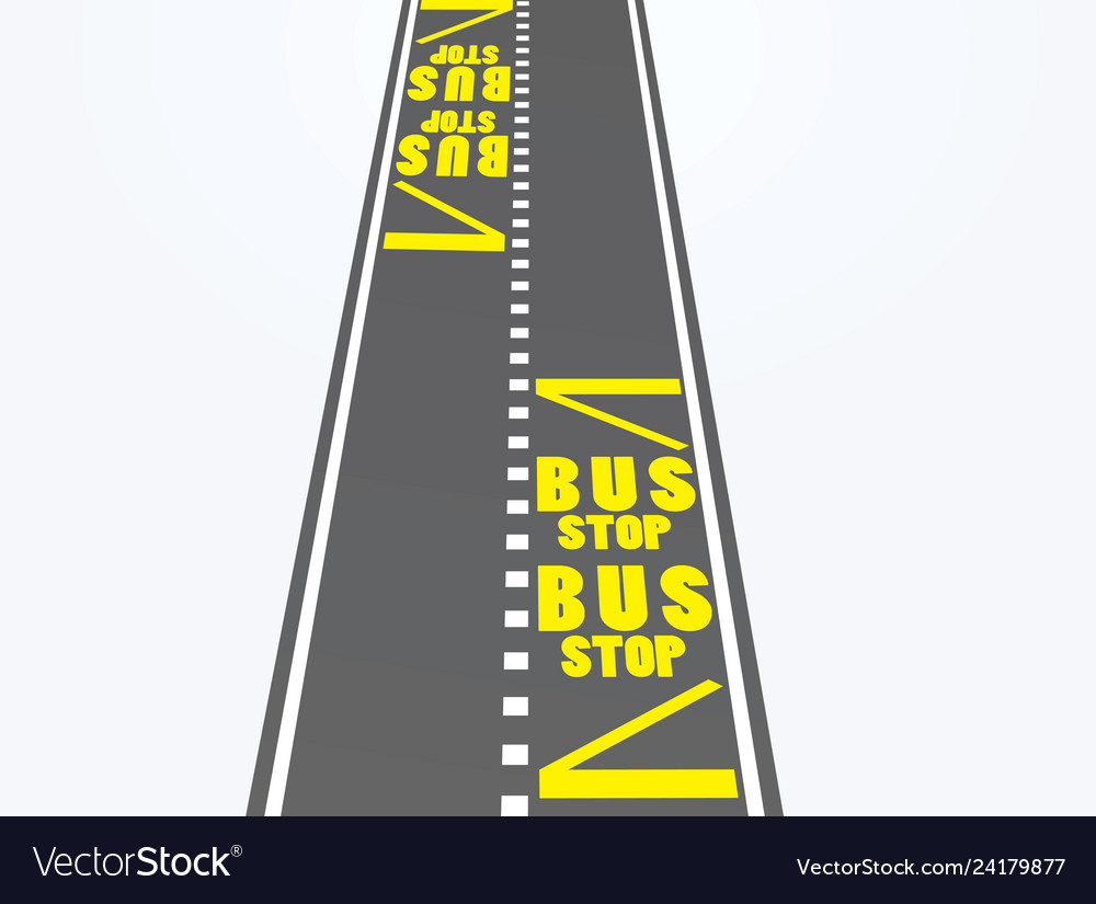 Bus stop on road
