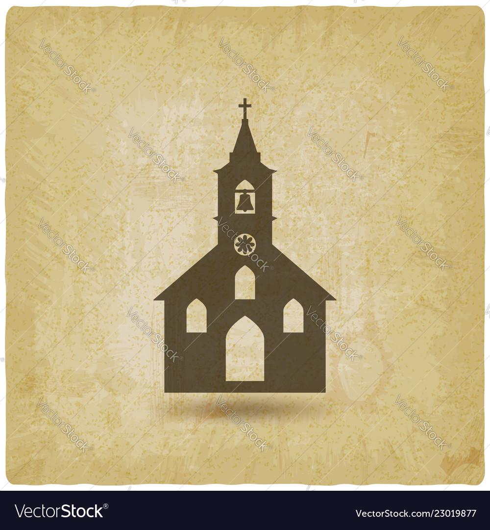 Christian church vintage background