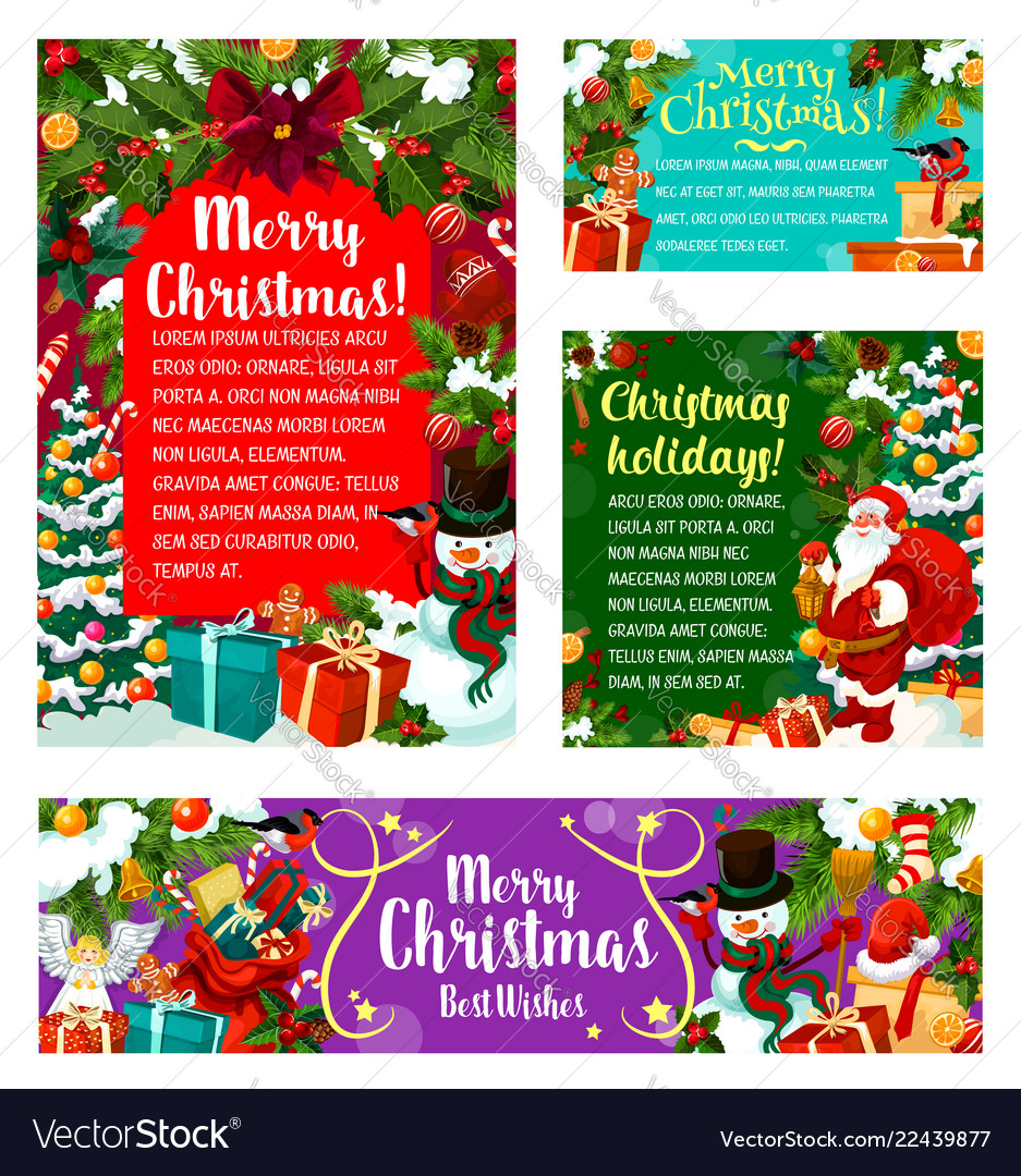 Christmas Holiday Party Invitations Royalty Free Vector