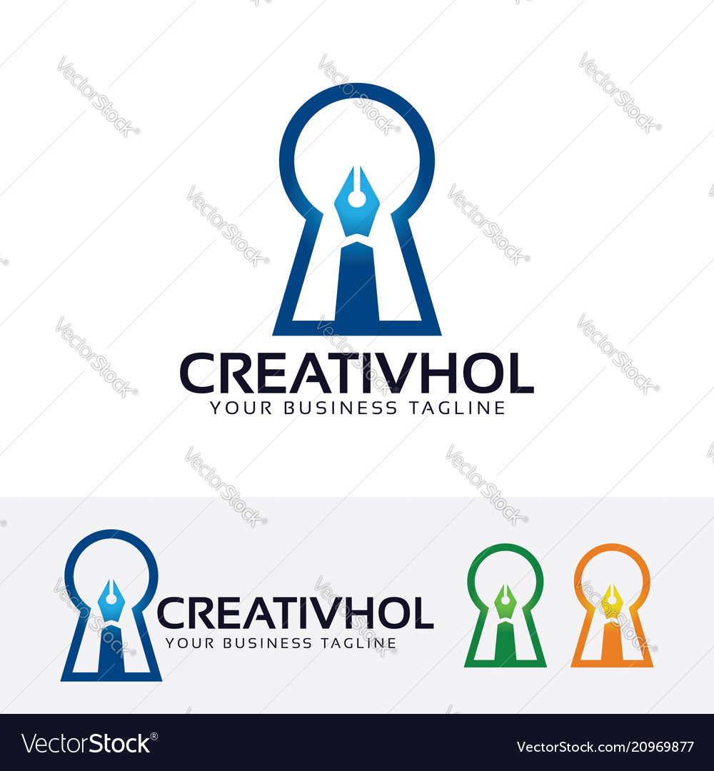 Creative hole logo design