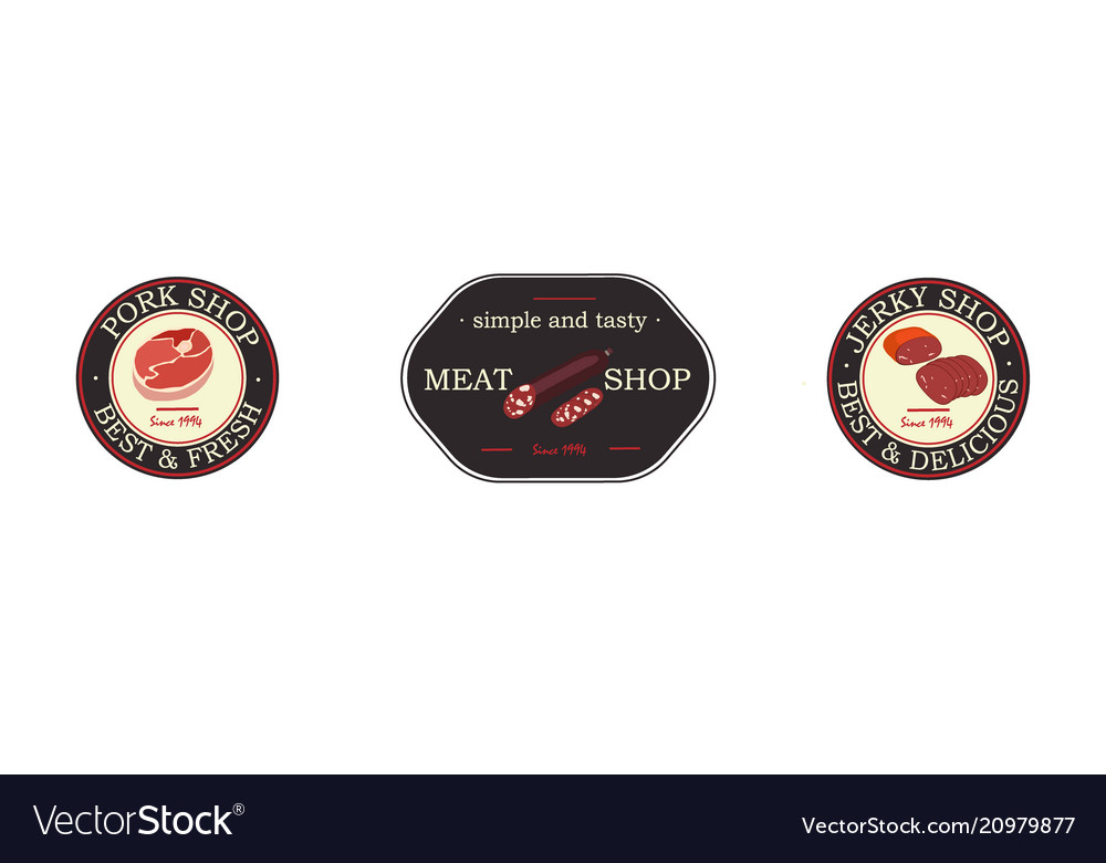 Meat product logo and brands beef pork