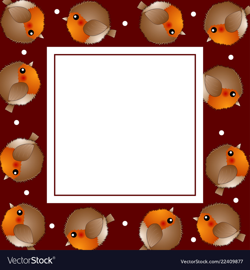 red robin bird on red christmas banner card vector image - Is Red Robin Open On Christmas