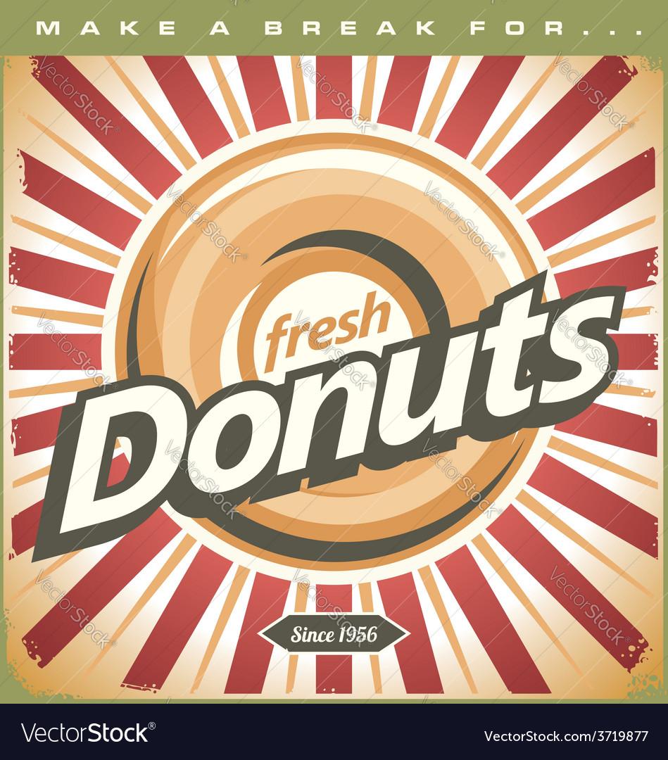 Retro Donuts Poster