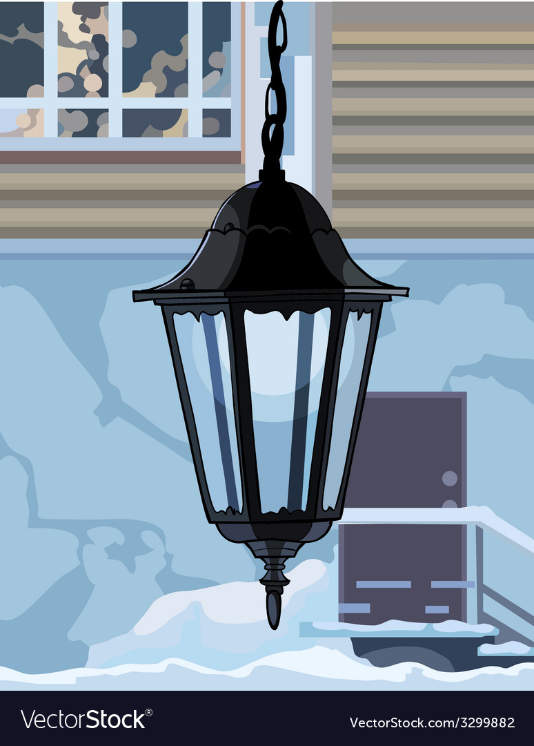 Decorative wrought iron lamp vector image