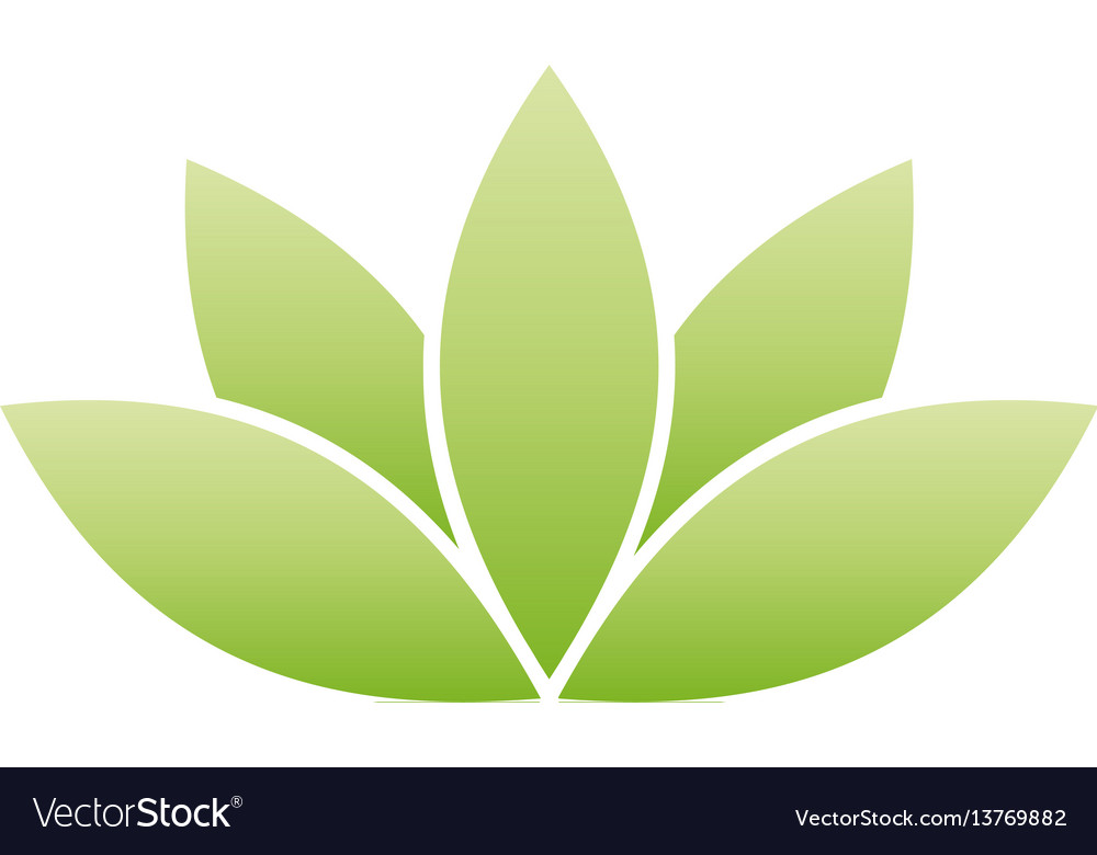 Green lotus symbol spa and wellness theme design