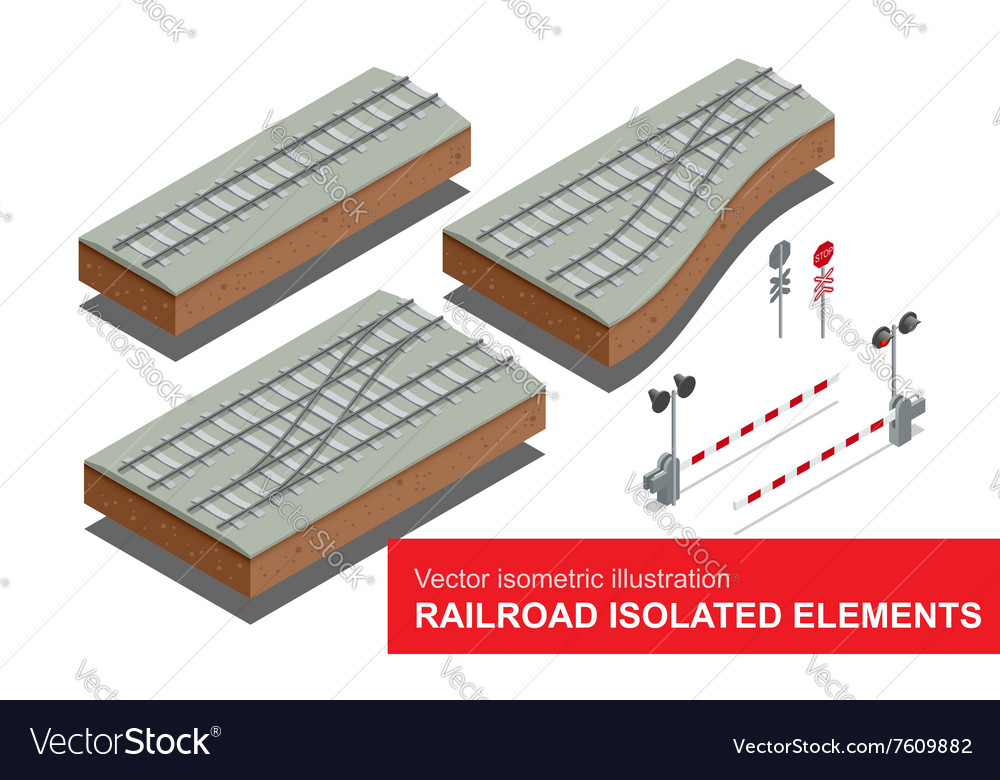 Railroad isolated elements for rail freight