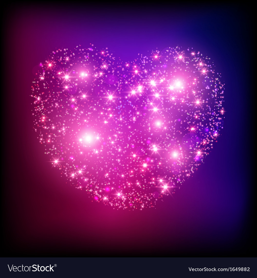 Sparkle bright pink heart