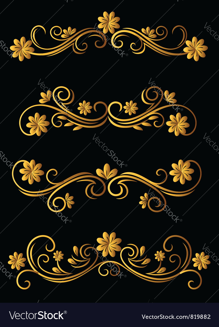 Vintage Floral Filigree Elements vector image
